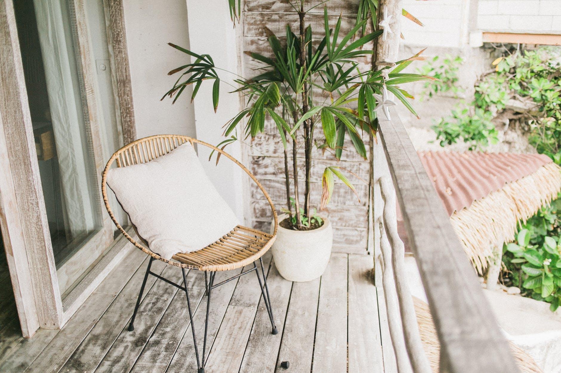Balcon mobilier de jardin